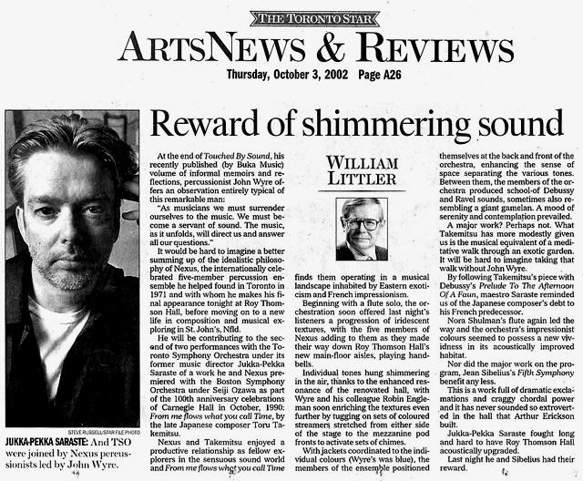 Toronto Star Review
