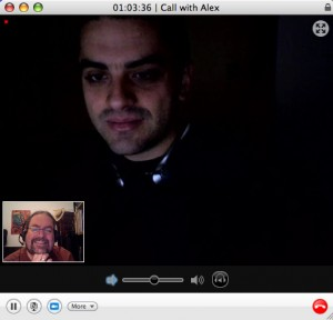 Alex and Ray on a Skype call