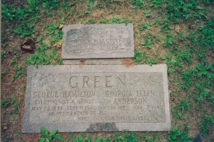 George H. Green's gravestone in Woodstock, NY