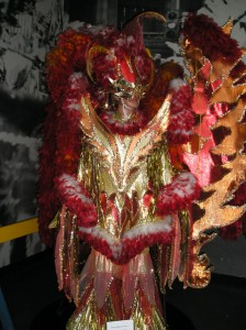 """Fire"" costume at the Mummers Museum"