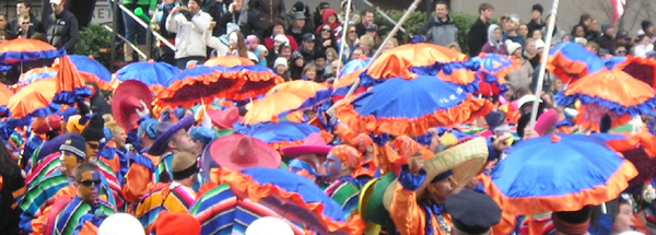 Comedy Brigade in the Mummers Parade