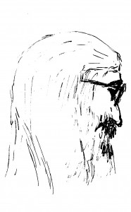 Robin's ?? drawing of Bob Becker