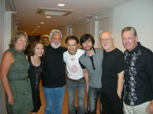 NEXUS and friends backstage with Ayaka Hirahara, 2nd from left. (Bob is taking the photo!)