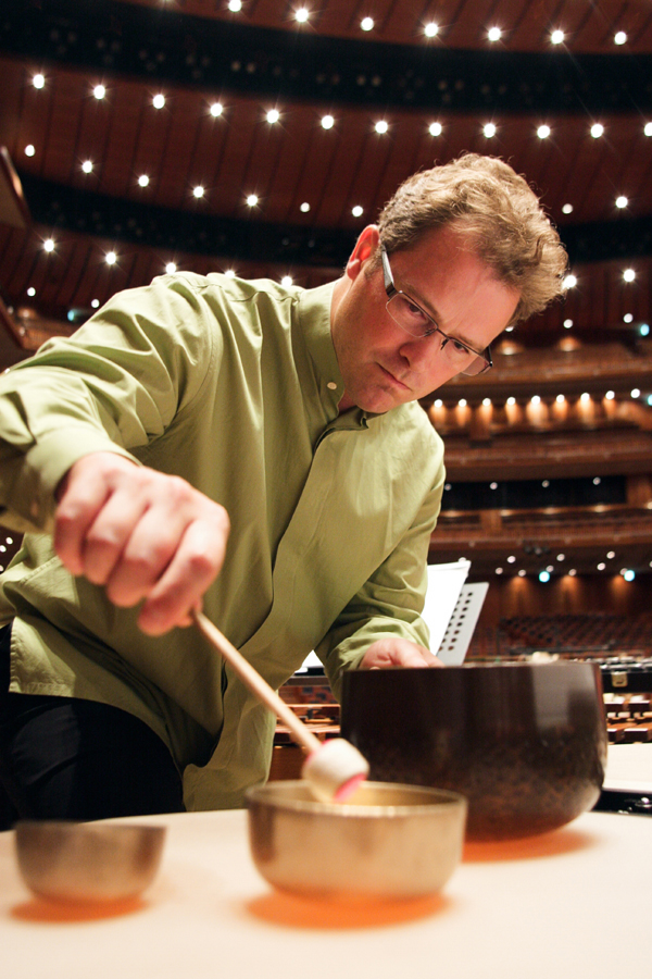 Ryan Scott plays the temple bell cadenza from upstage left