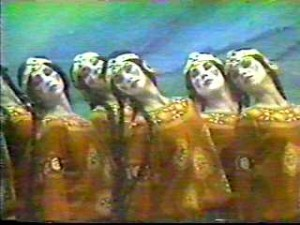 A scene from the original Rite of Spring ballet.