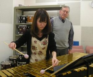 Sayuri playing the Jolivet on vibraphone
