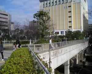 Hotel & Central Square at Shin Yuri Station (Kawasaki)