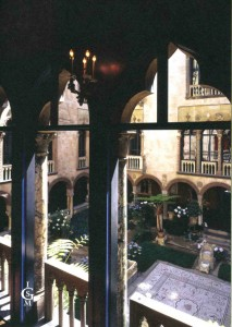 The Courtyard at the Gardiner Museum