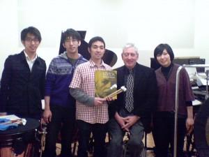 (L to R) Tatsuya Takatori, Fumiya Takatori, Yu Ishimine, Bill, Shiyono Kanako
