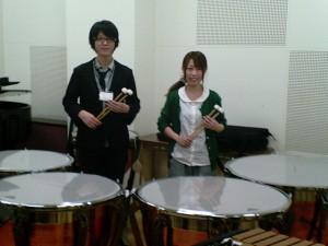 Freshmen Katsuhiro and Siori