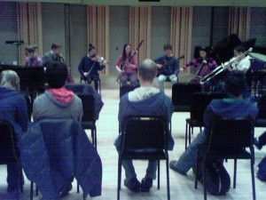 Second improvised piece on the CMM final recital on February 28, 2012