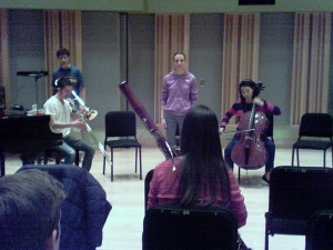 First improvised piece on the CMM final recital on February 28, 2012