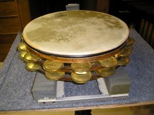 Tambourine positioned on Cradle