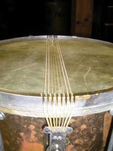 Detail of Snare Slots on Counter-Hoop