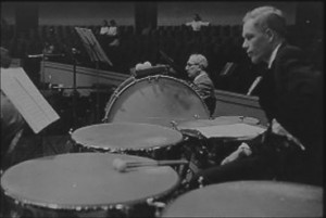 Hugh Robertson on Timpani (Stan Street, sitting behind)