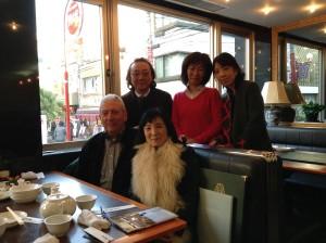 Lunch in Chinatown, Yokohama - (l-r) Bill, Kaz, Yashio, Akiko, Yurika