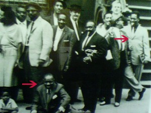 (seated) Count Basie (standing right) Dizzy Gillespie