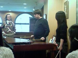 "Kaz, Mark and a Showa student discuss ""Libertango"""