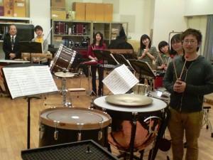 Toshiaki Ichiuchi-sensei and the junior/senior percussion sextet