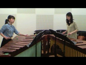 "Yurie and Noriko performing ""Into the Air"" by Ivan Trevino"