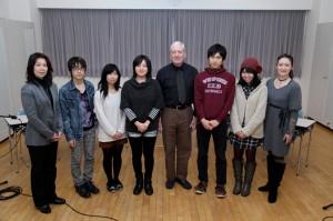 December 10. 2013 Showa English class (Professor Kosai is on the left)