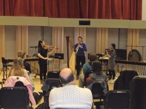 Feb. 25 Recital (L-R): Yae Ri Choi, Emily Hart, Sooah Jung