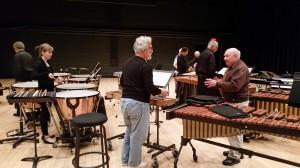 """Octet"" rehearsal (l to r) Don Liuzzi, Angela Zator Nelson, Garry, Russell, Chris Deviney, Bob, Tony Orlando, Alan Abel"