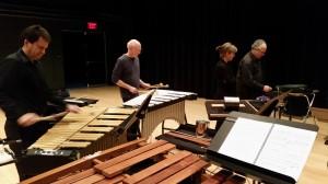 """Octet"" Rehearsal (l to r) Chris Deviney, Bob, Angela Zator Nelson, Don Liuzzi"