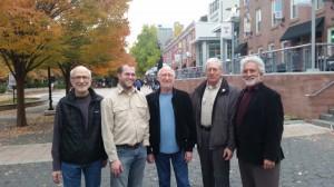 NEXUS at Temple University (l to r) Russell, Phillip O'Banion, Bob, Bill, Garry