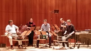 "John Cage's ""Imaginary Landscape No. 2"" is rehearsed by Amadinda prior to their performance on Mon. Dec. 1, 2014"