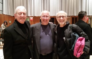 """After the Performance of""""Drumming"""" at Curtis on Nov. 14, 2014 (l to r): Bill, Don Liuzzi, Russell"""