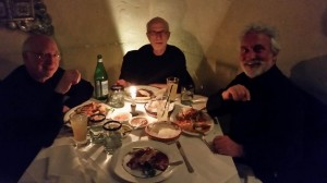 Phabulous dinner at Tequila's Restaurant - 1602 Locust Street, a few doors down from Curtis. (l to r): Bob Russell, Garry