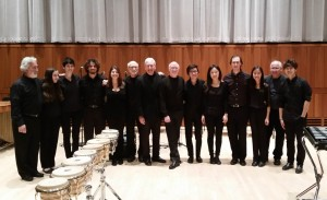 """""""Drumming"""" performers - Curtis percussionists with NEXUS - Nov. 14, 2014"""
