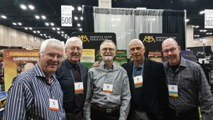 In the Exhibit area (l-r) Tom Aikins, BC, Doug Howard, Tony Cirone, Garwood Whaley