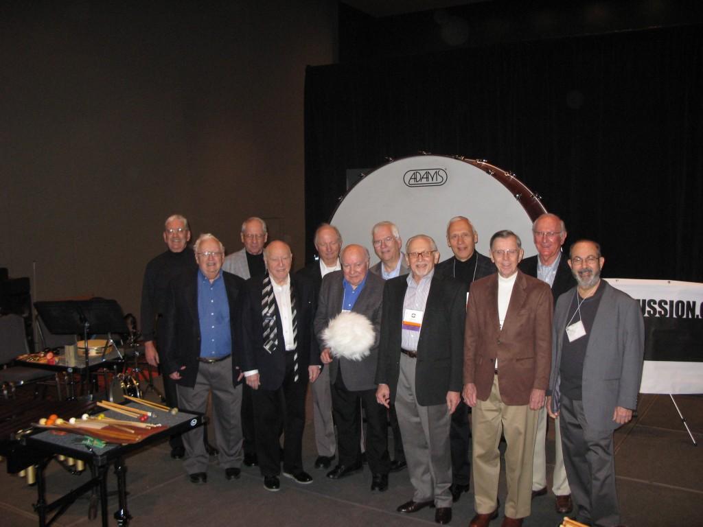 The Emeritus Section (l-r) BC, Ron Barnet, Rich Weiner, Arnie Lang, Gerald Unger, Alan Abel, Tom Aikins, Bill Platt, Tony Cirone, Stan Leonard, John Beck, Peter Kogan