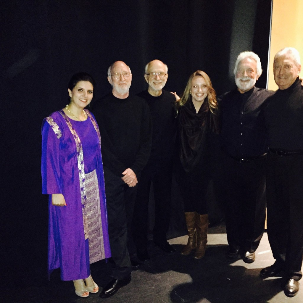 Backstage at the Lila Cockrell Theater (l-r) Sepideh Raisadat, Bob,Russell, Kristen, Garry, Bill