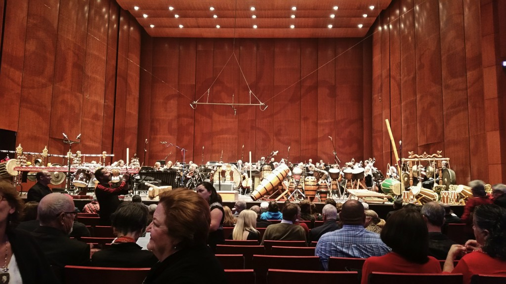 "The San Antonio Symphony at the Tobin Center in anticipation of the ""Gamelan D'Drum"" performance"