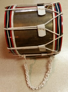 The restored rope drum with its braided tug line