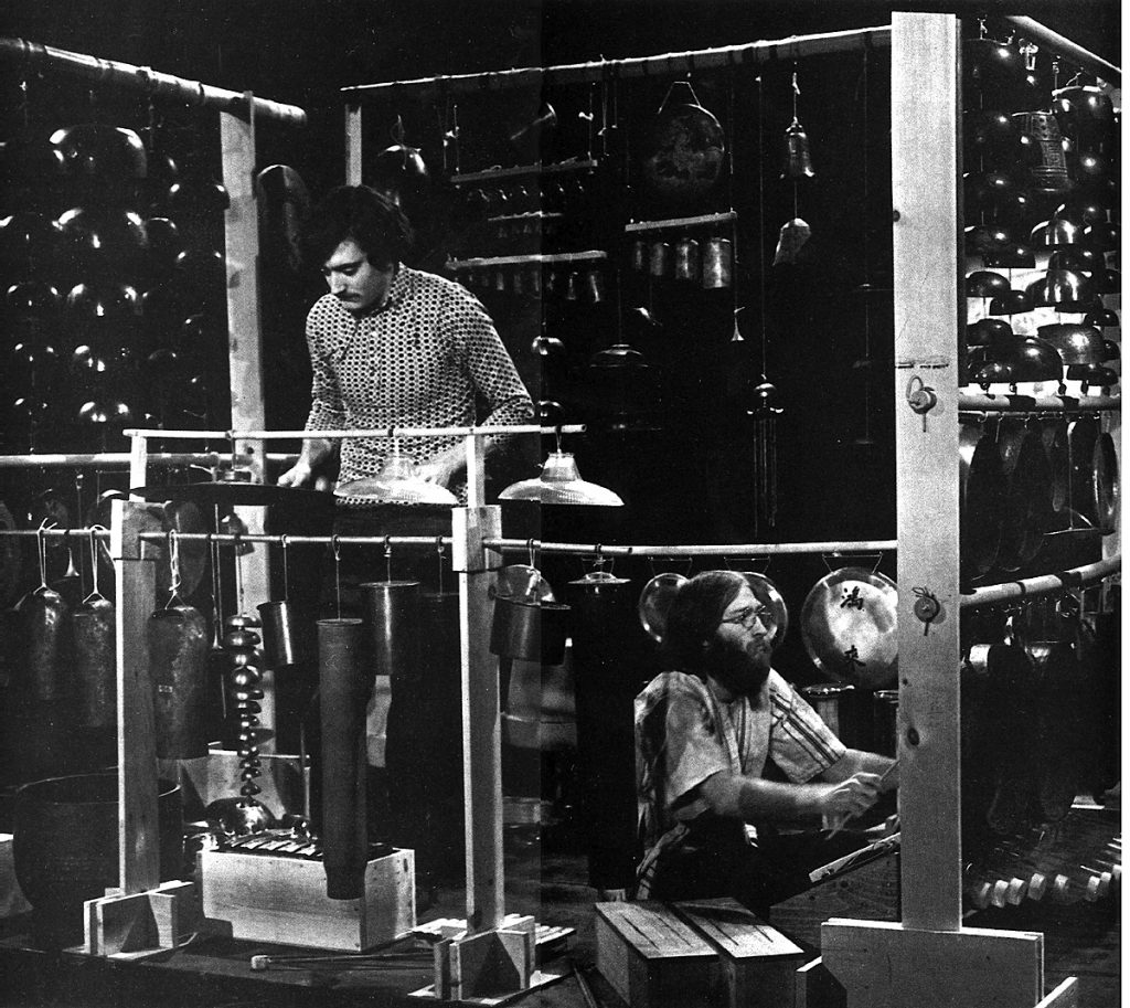 Photo 10 - Wood rack system used by Bill Cahn and Bob Becker during a television broadcast in 1971