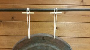 Photo 4 - Cord wrapped over the rail and secured to itself with the dowels