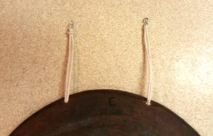 Photo 5 - S-hooks (instead of dowels) on the cord loops