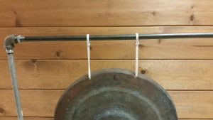 Photo 6- Each cord loop goes over the rail and is secured to itself with an S-hook.
