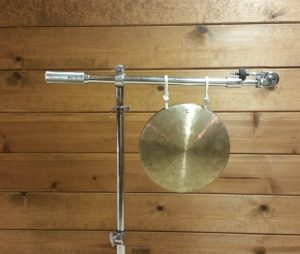 Photo 8 - Gong suspended from two points on a boom cymbal stand