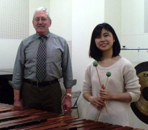 A marimba lesson with Eimi, a career-track percussion student at the Showa Academy of Music and Arts in Kawasaki, Japan - December, 2013.