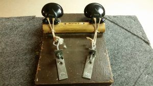 Rear view of the castanet machine I made in high school.