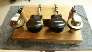 "This castanet machine was made for ""Samson & Delilah"" by C. Saint-Saens when I was in the Rochester Philharmonic. The score calls for castanets of wood and metal. The wooden castanets are from Spain and the metal castanets are finger cymbals."