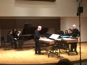 Performance of Steve Reich's Quartet at the University of Toronto with Gregory Oh and Midori Koga, pianos and Russell Hartenberger and Bob Becker, vibraphones, Dec. 2, 2016. Photo: Bonnie Sheckter.