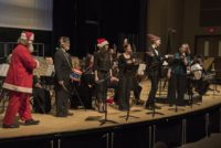 "Soloists in Haydn's Toy Symphony (Garry is the ""Little"" Drummer Boy) with Maestra Kathleen Beckmann - Photo by Guy Peifer"